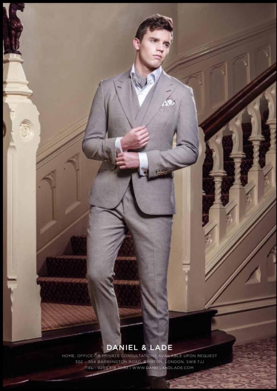 Man wearing Daniel & Lade suit