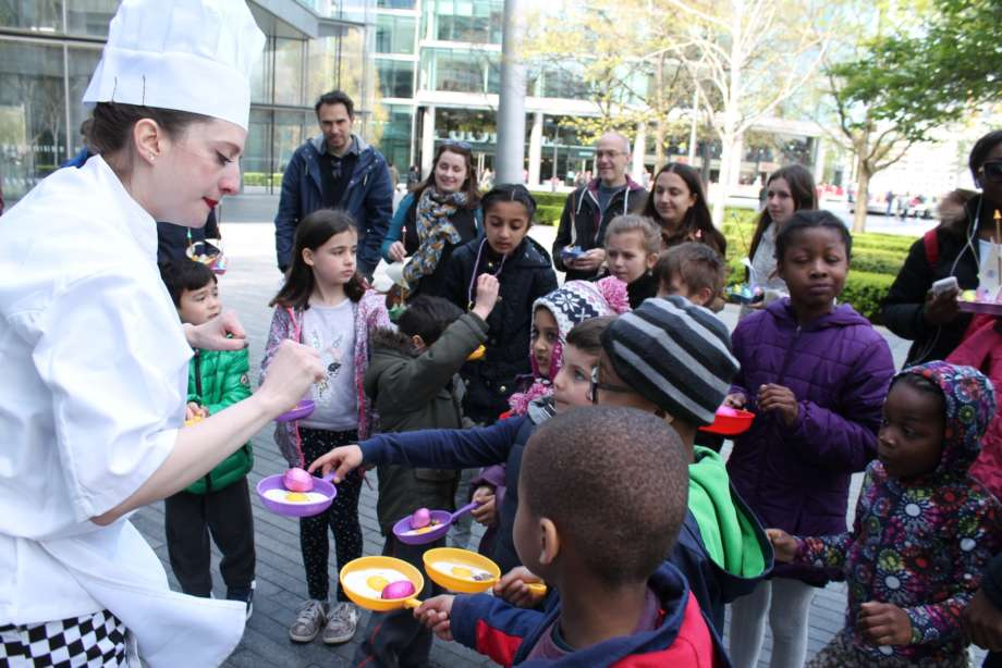 Easter Egg Trail with Chef and Children