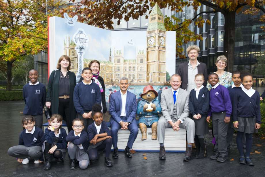 Paddington Bear Pop Up with Mayor and Children